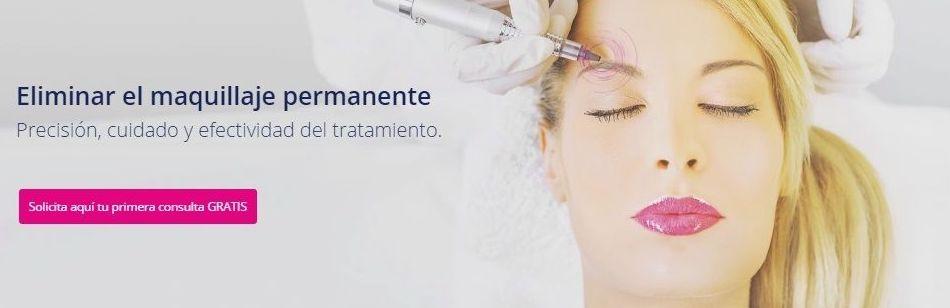 Eliminar el maquillaje permanente  Precisión, cuidado y efectividad del tratamiento.