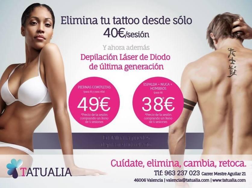 Centro en Valencia, especializado en la eliminación de tatuajes y pigmentos de la piel