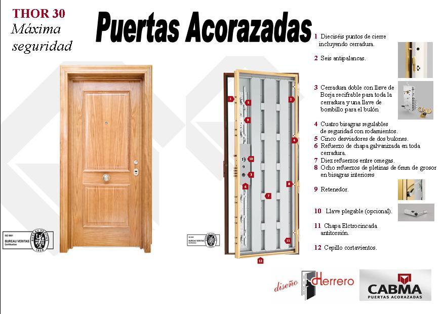 La puerta acorazada thor 30 esta compuesta de los - Puertas blindadas a medida ...