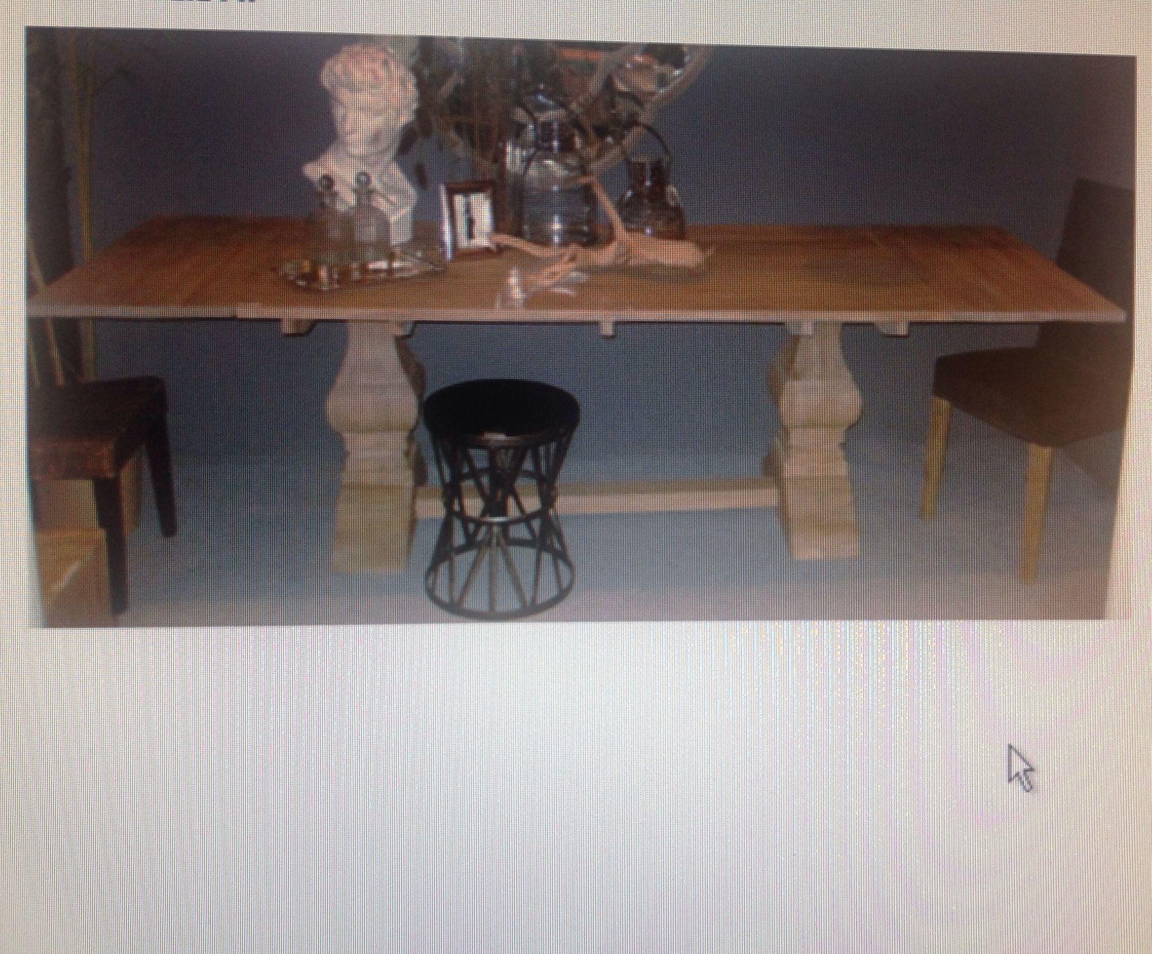 Mesa comedor madera natural cat logo de ste odile decoraci n for Mesillas madera natural