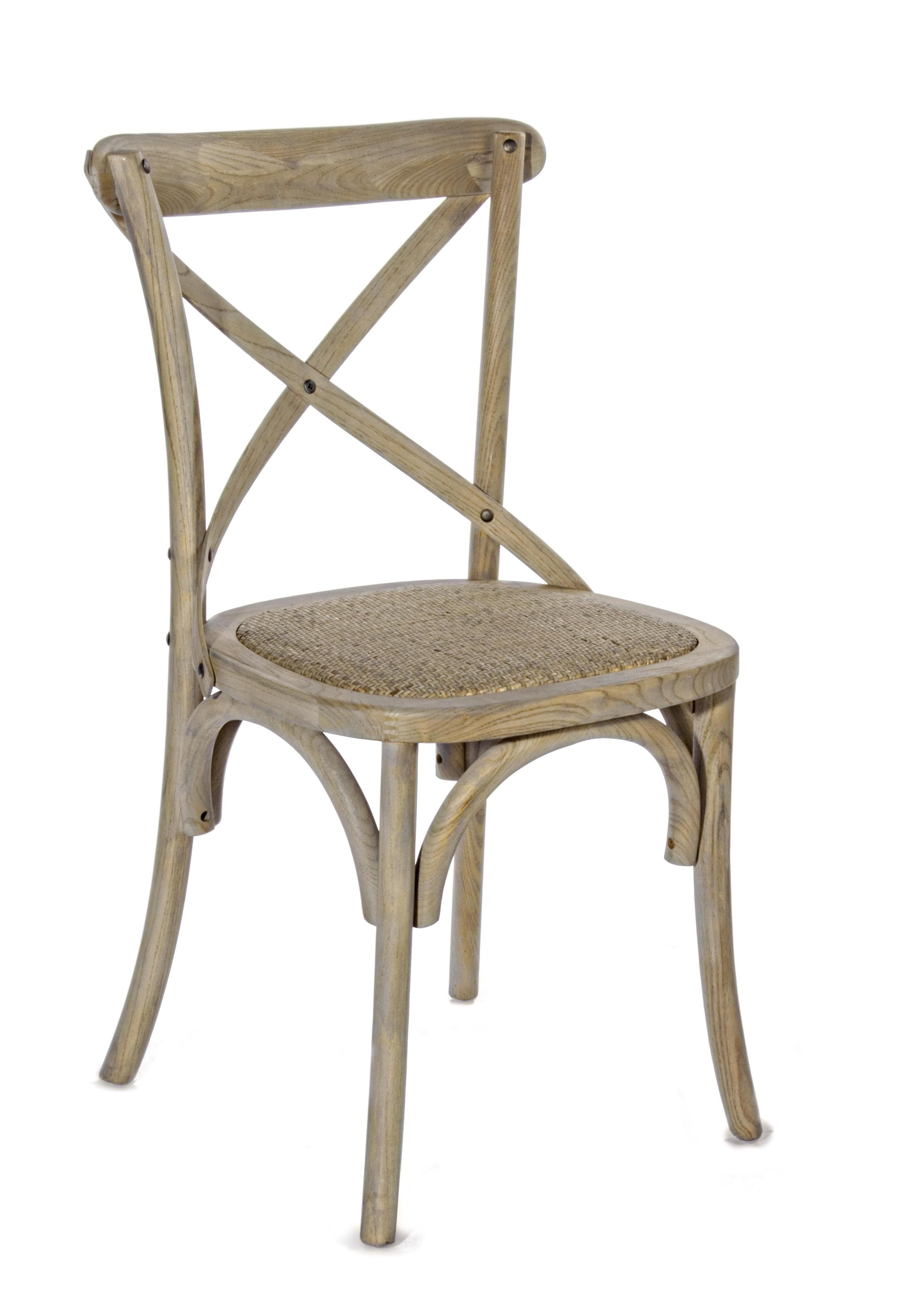 Silla cruceta en madera de olmo y asiento rattan cat logo for Catalogo de sillas de madera