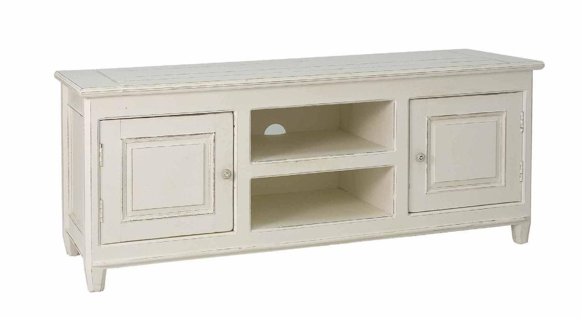 Mueble tv blanco envejecido cat logo de ste odile decoraci n - Muebles blanco envejecido ...