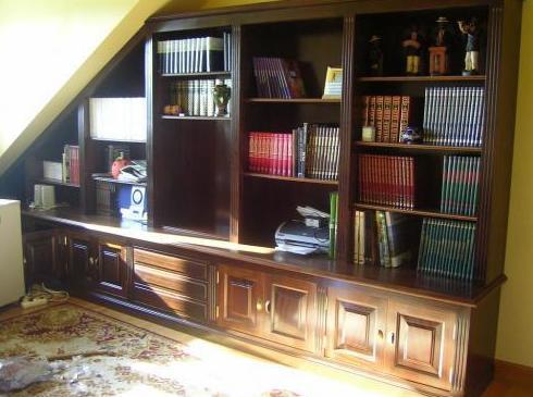 Mueble de madera para salón
