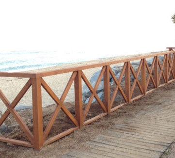 Barandillas de rollizo: Trabajos de Construcciones Javier Villar