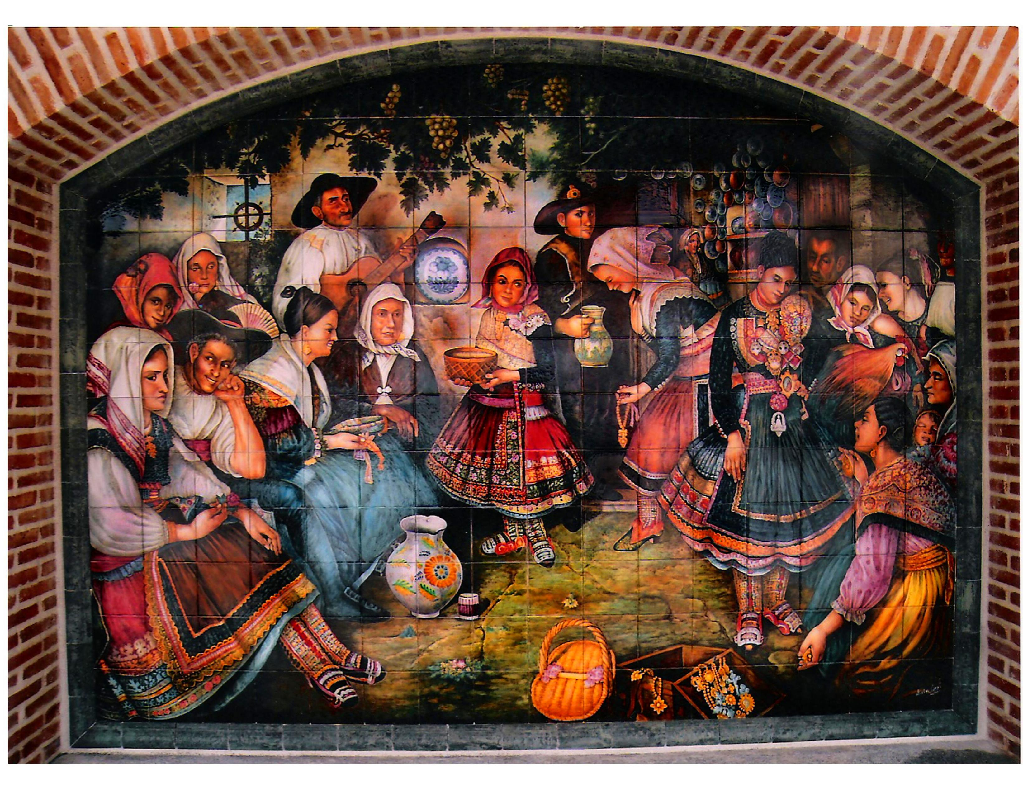 Foto 4 de cer mica art stica y popular en talavera de la - Murales de ceramica artistica ...