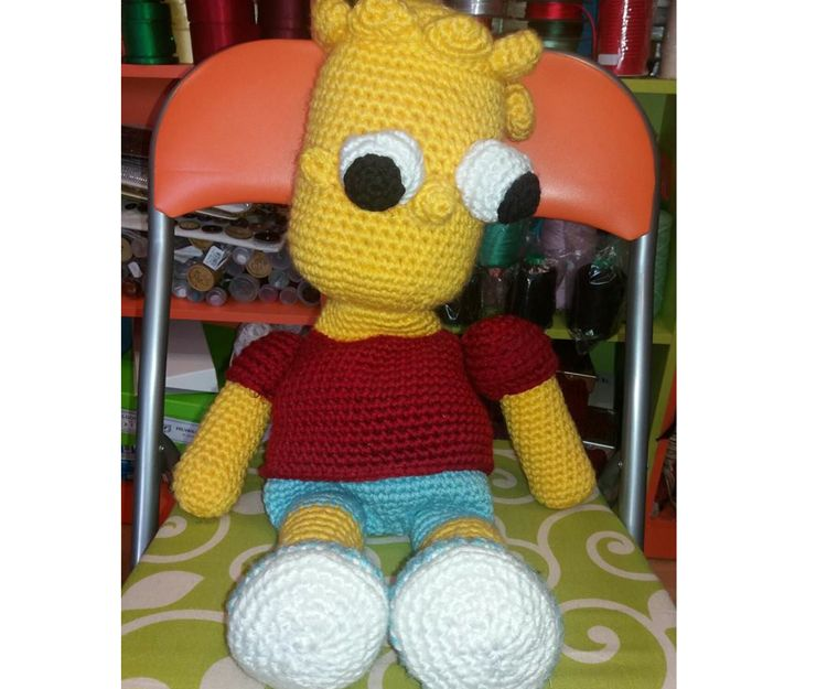 Bart Simpson a ganchillo