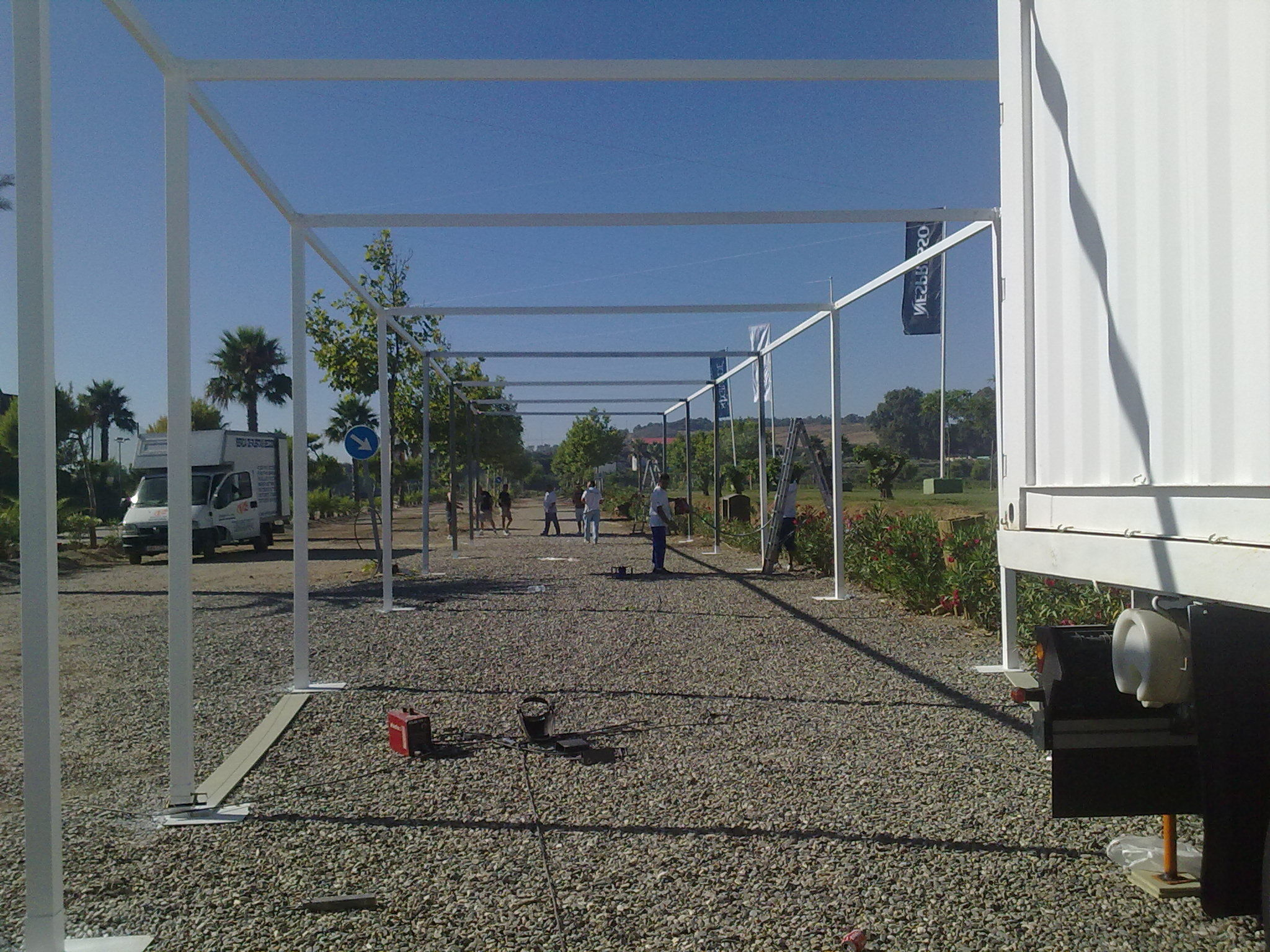 Estrutura carpa 60 mts de evento BMW-MINI   en Sotogrande -Cadiz