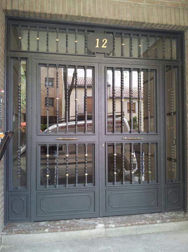 Puerta de portal madrid