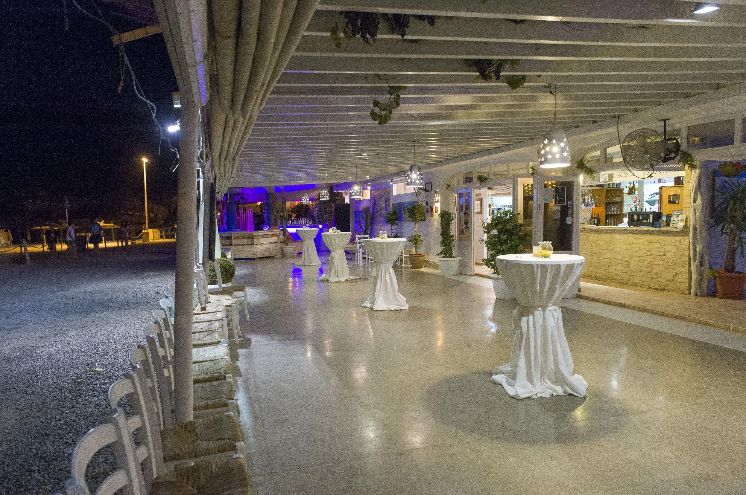 Panorámica de la terraza del restaurante