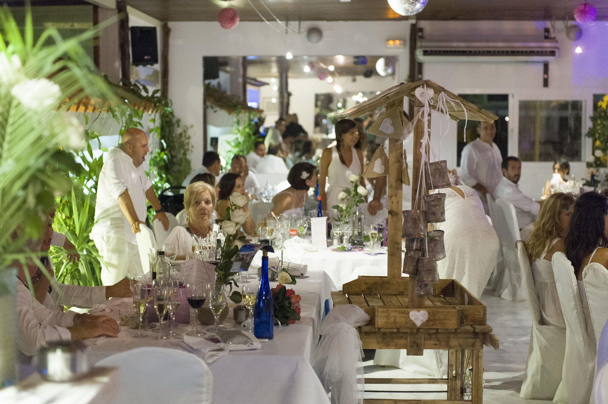 Celebración de boda ibicenca