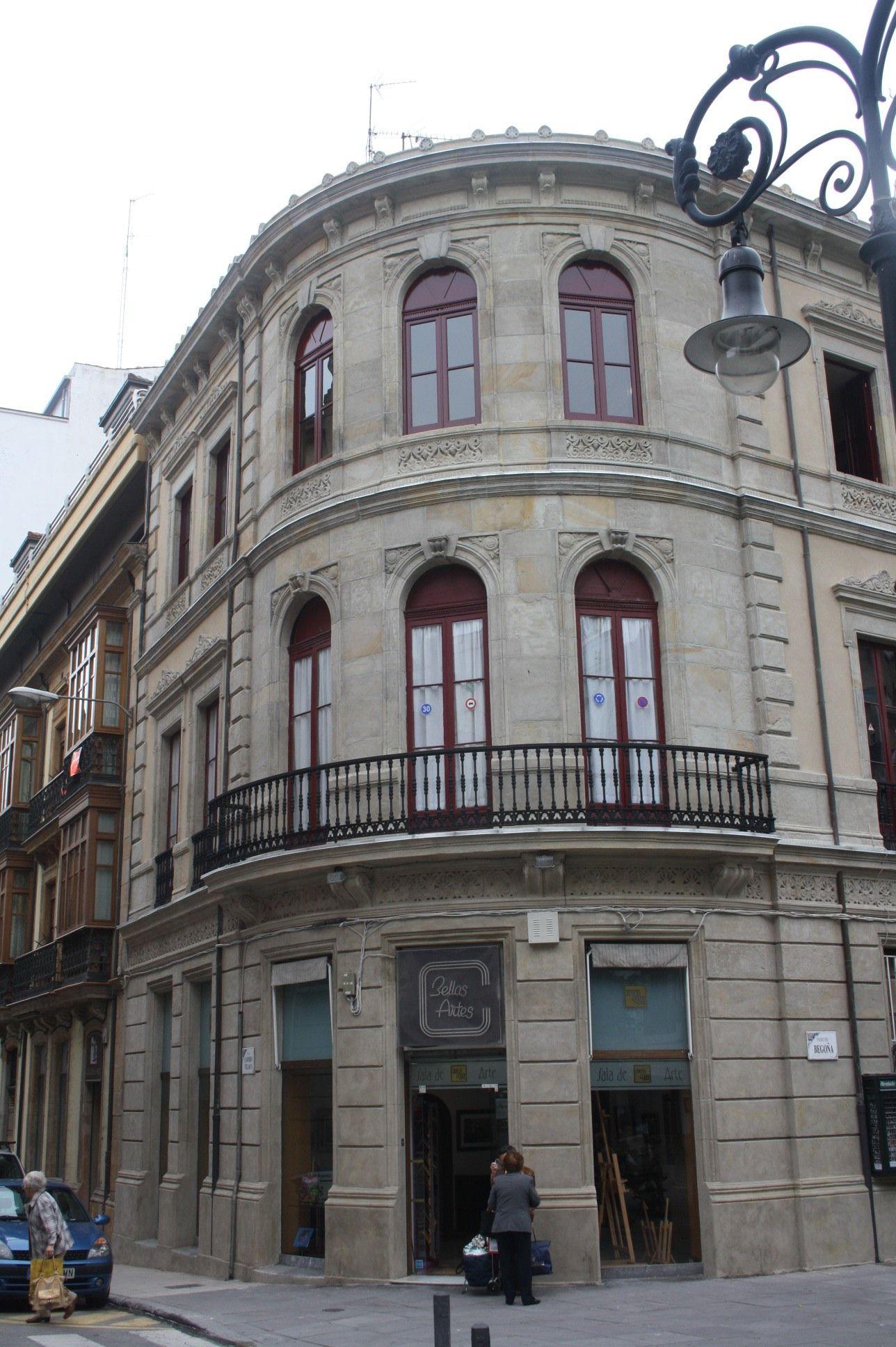 Rehabilitación fachada paseo Begoña Gijon.