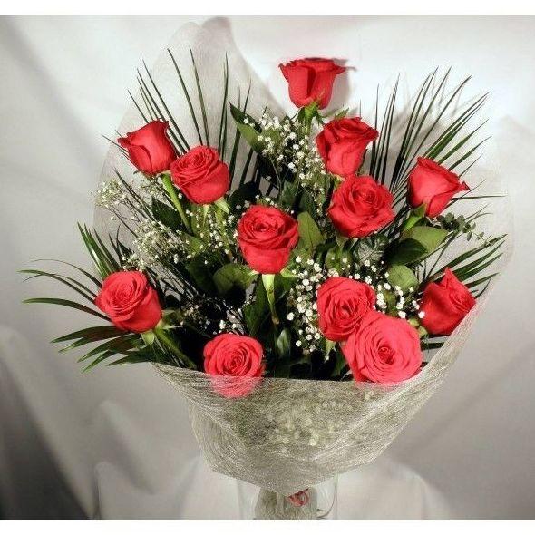 Ramo de 12 rosas rojas extra: Productos de Entrefloresyplantas.es
