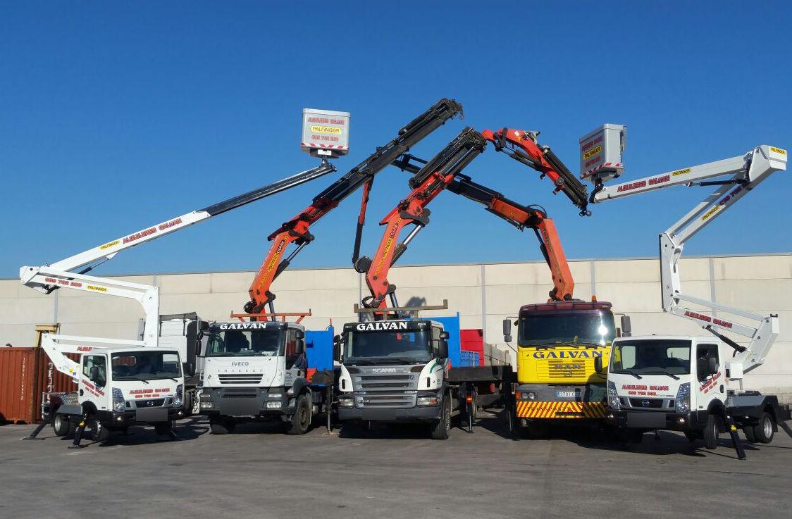 Plataformas elevadoras sobre camión