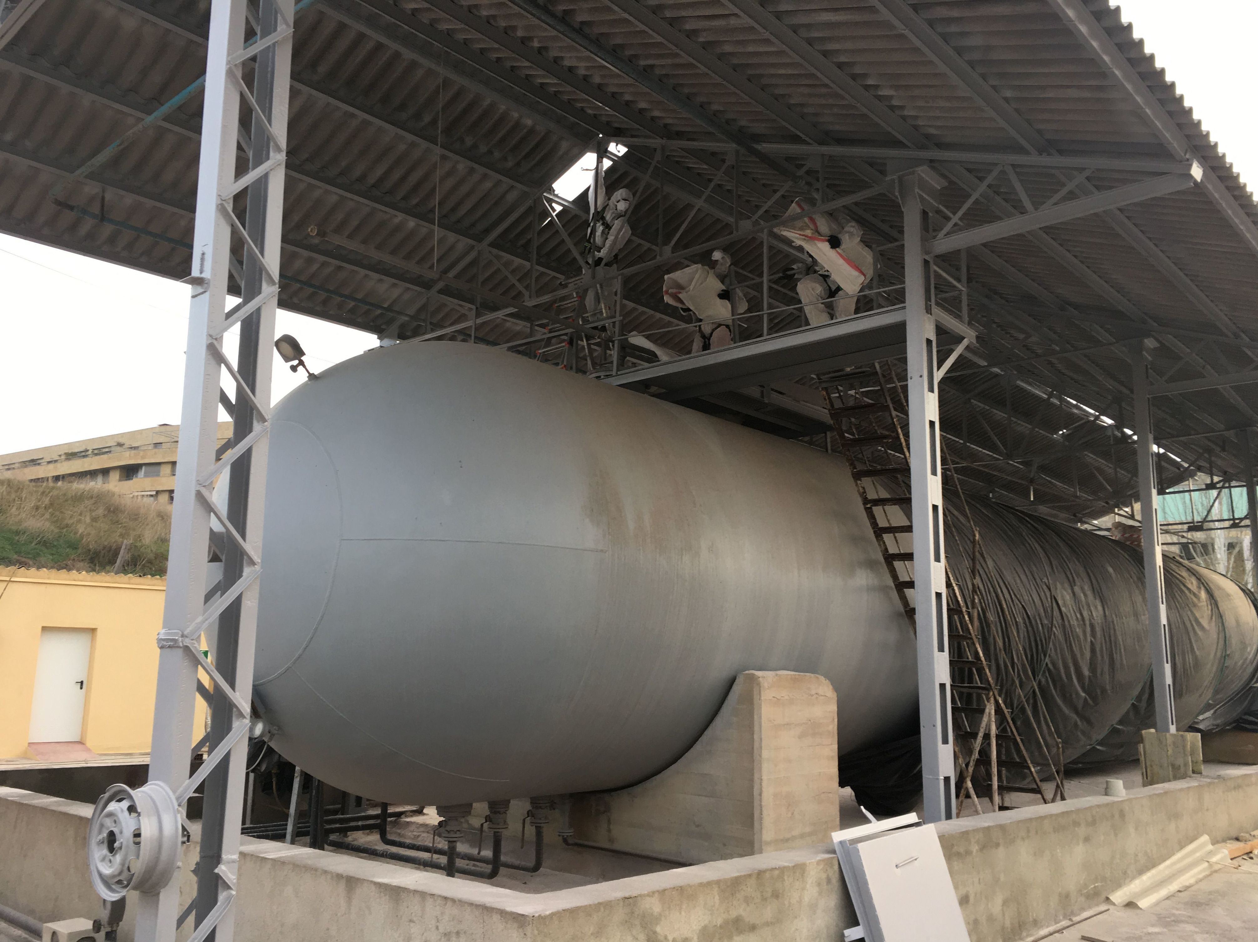 Retirada de amianto en Mirat Fertilizantes (Salamanca)