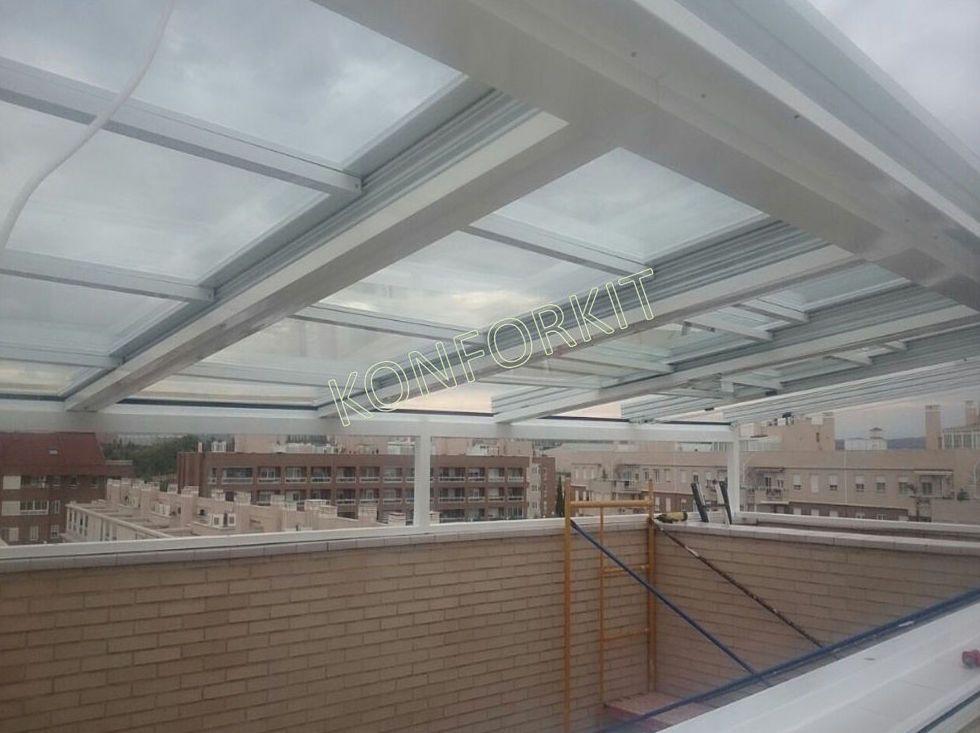 Techos de cristal para terrazas perfect techos mvil - Techos para terrazas precios ...