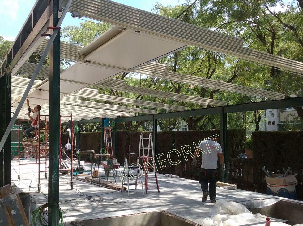 techos mviles para terrazas instalacin de techos mviles
