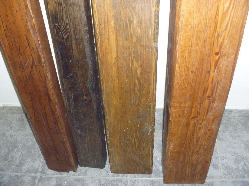vigas huecas de madera rsticas