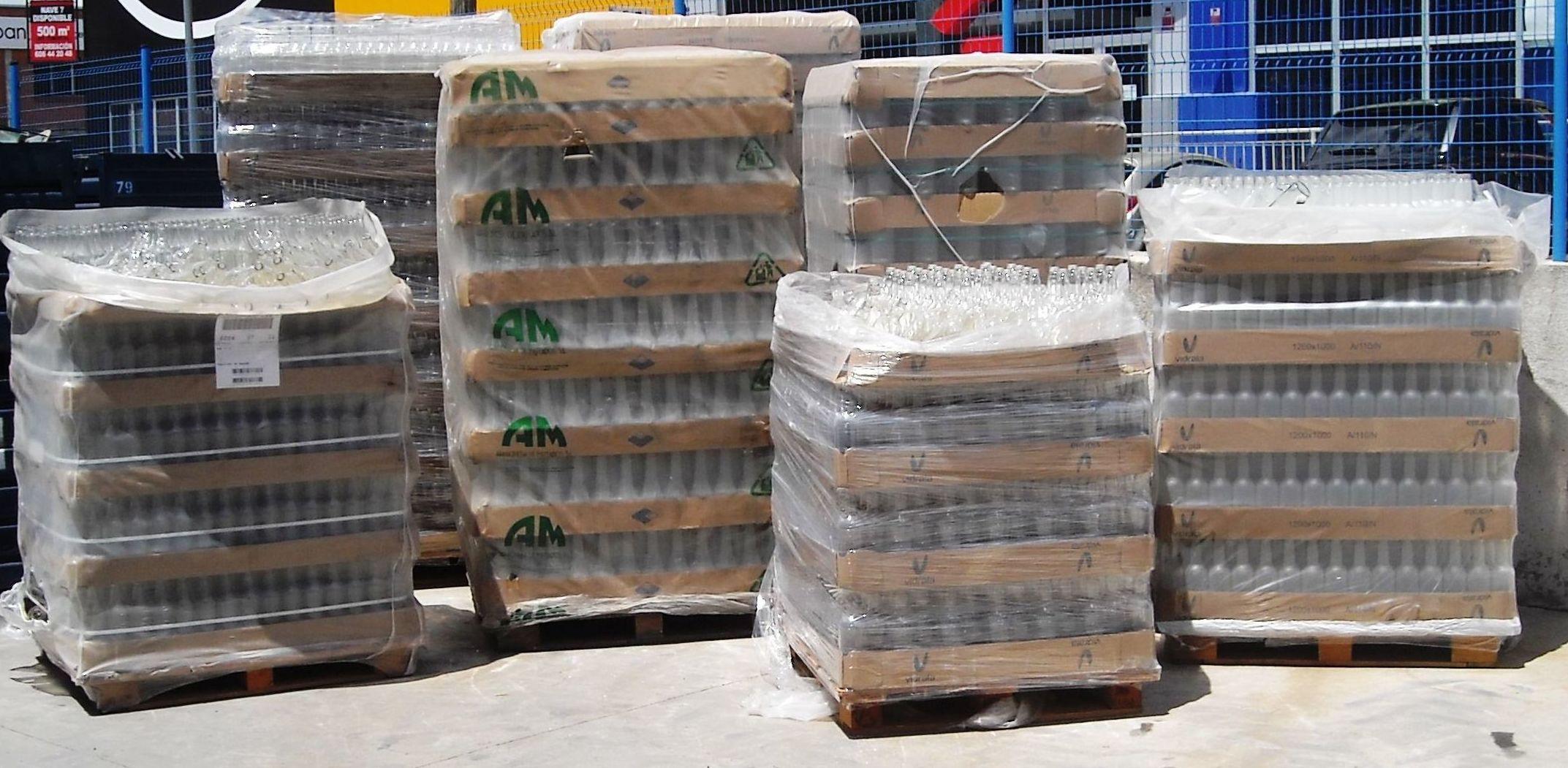 Recogida de envases paletizados