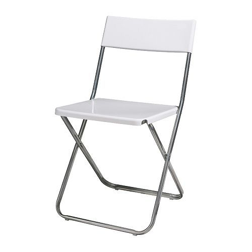 Alquiler silla plegable color blanco para catering, bodas, eventos, Gijon.