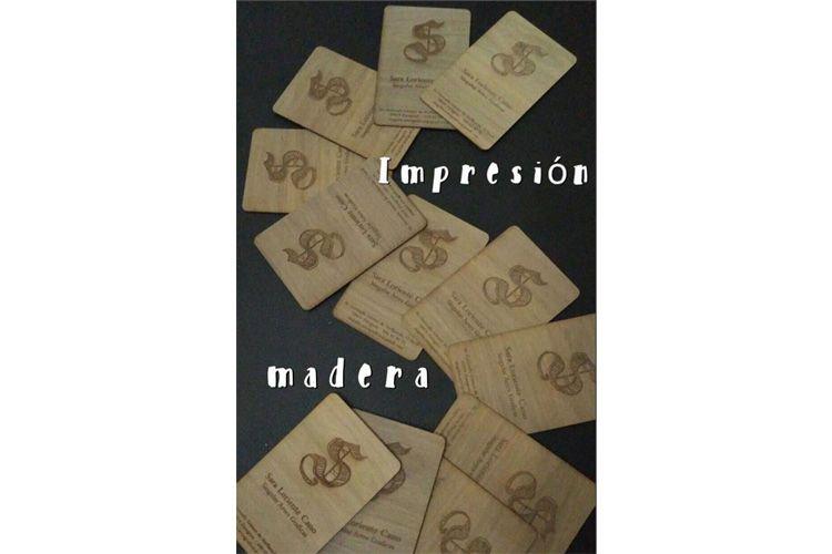 Impresión en madera en Zaragoza