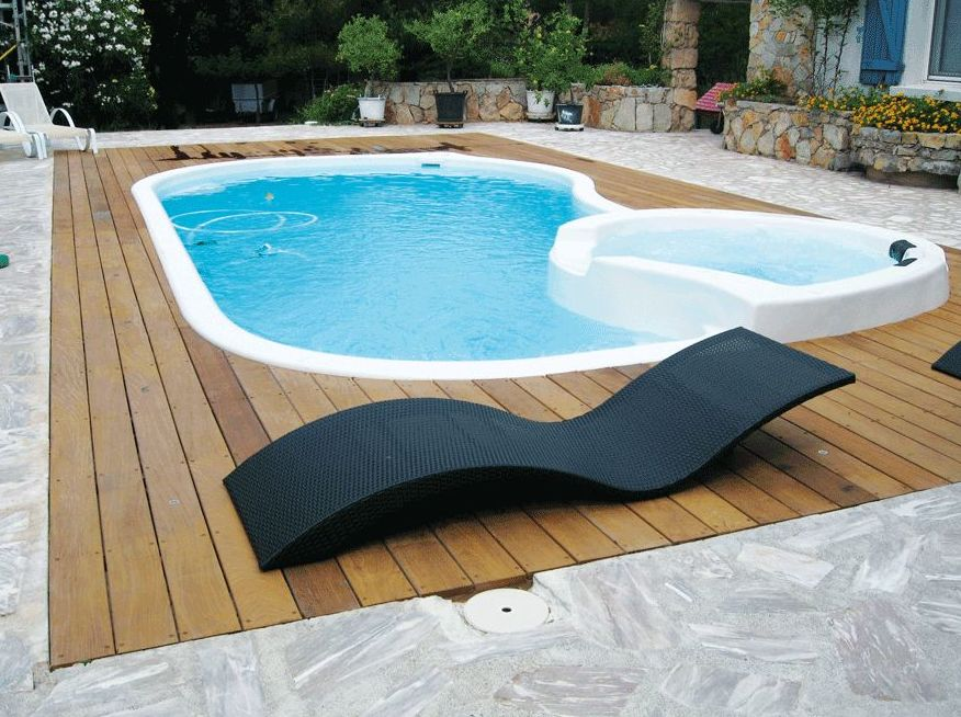 Piscinas de poli ster - Precio piscina obra 8x4 ...