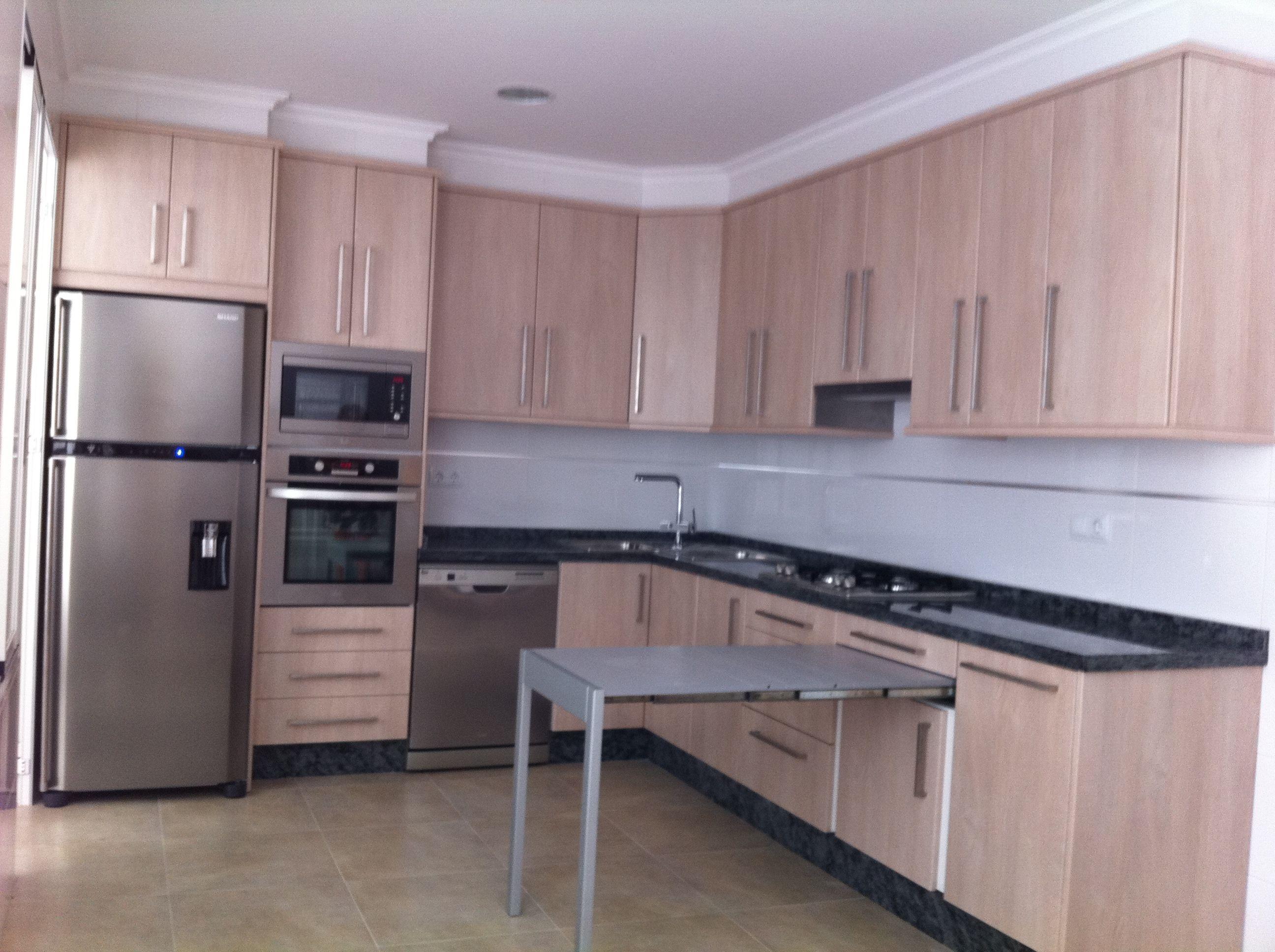 Muebles de cocina cat logo de cerrajer a y puertas nicol s - Mesa extraible cocina ...