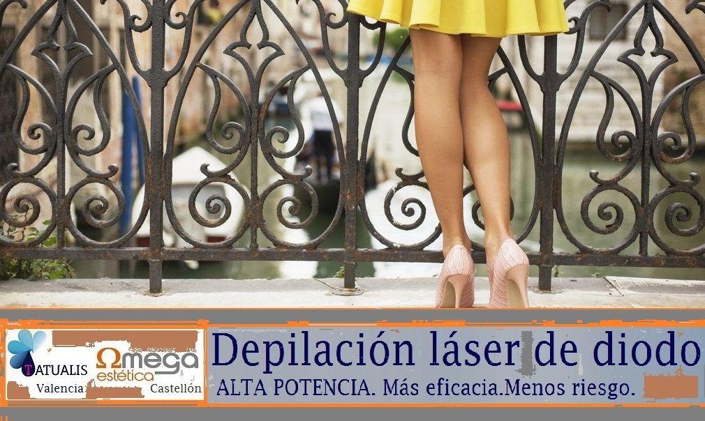 En los centros Tatualia Valencia y Estética Omega Castellón nuestros clientes pueden beneficiarse de lo último en depilación gracias a la más avanzada tecnología láser de diodo.