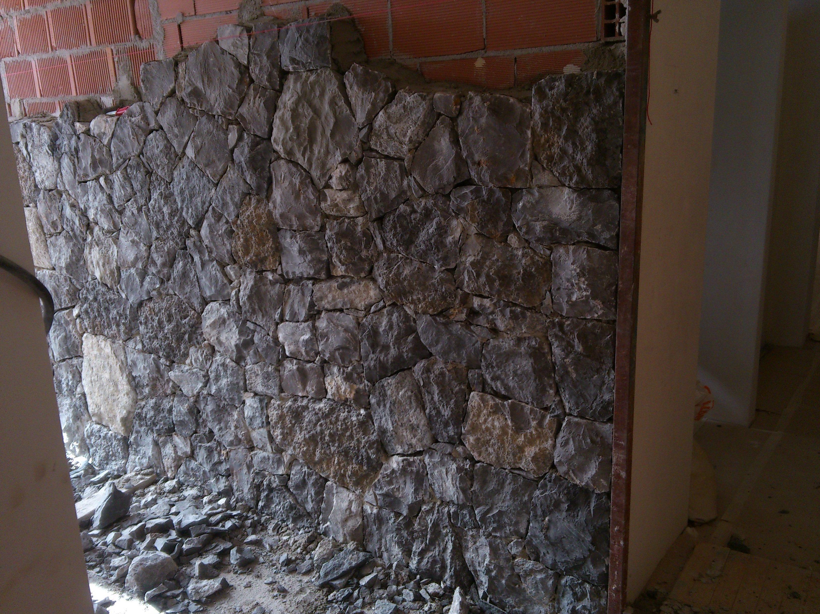 Mamposteria concertada ripiada en piedra negra de altea - Piedra de silleria ...