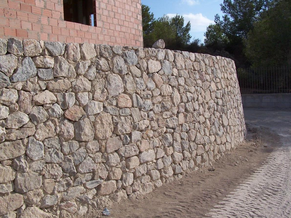 Mamposter a ripiada en piedra viva de santomera mucia - Tipos de mamposteria de piedra ...