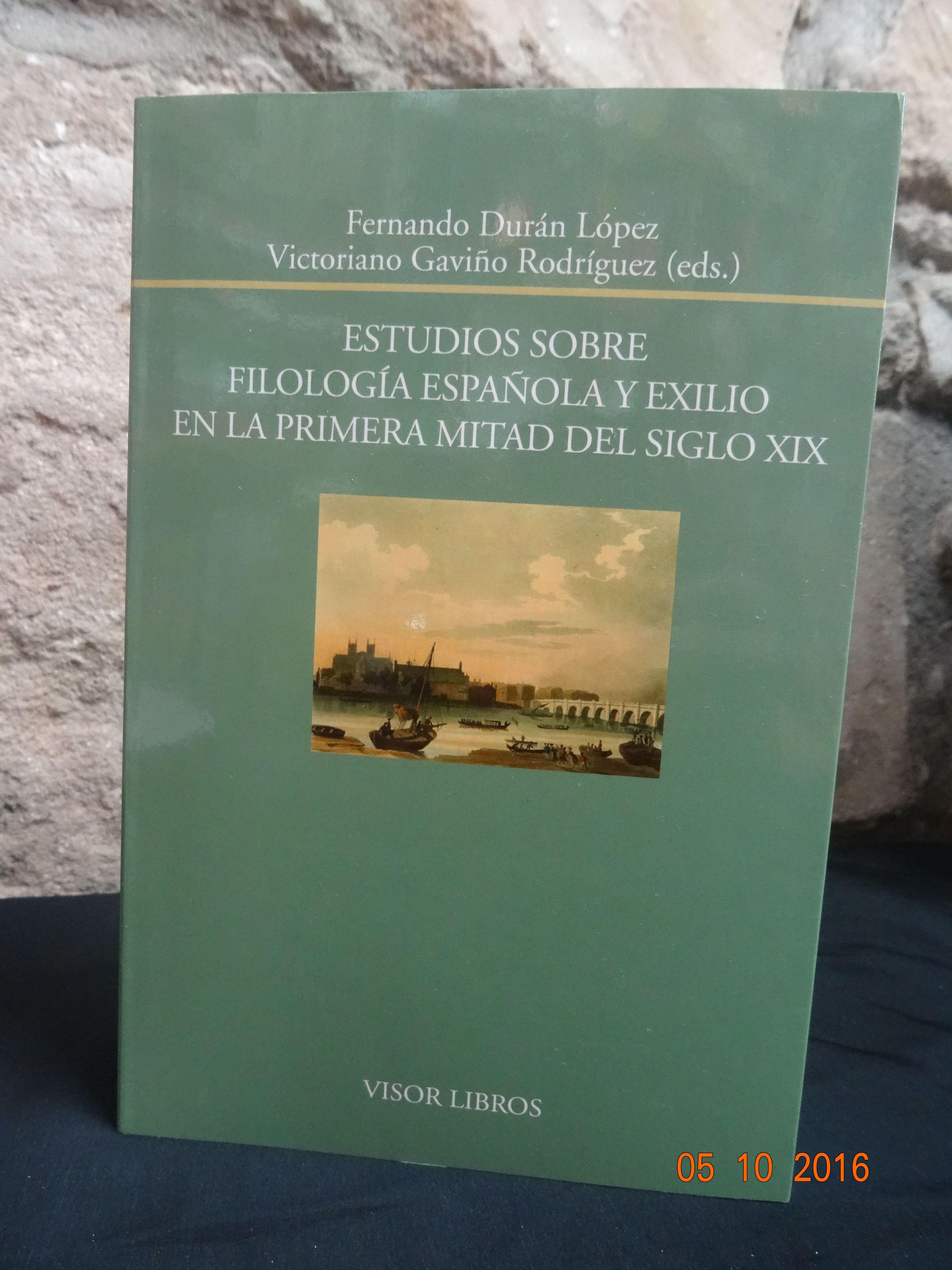 Estudios sobre Filologia Española y exilio en la 1ª mitad del siglo XIX: SECCIONES de Librería Nueva Plaza Universitaria