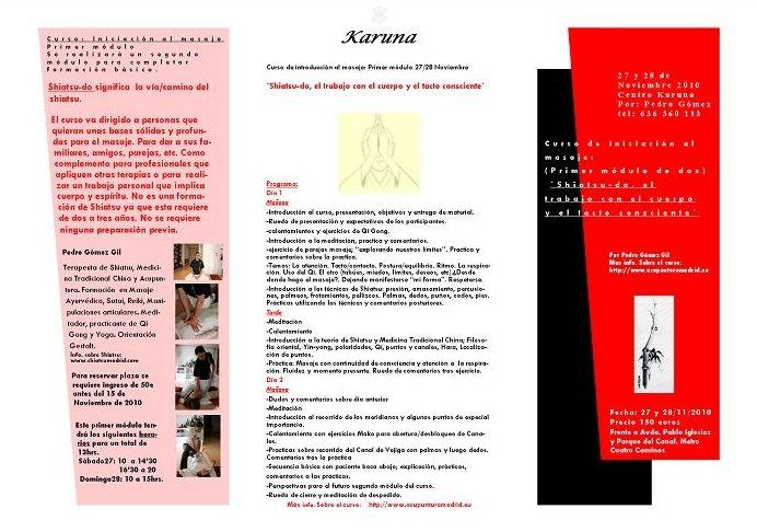 Cursillo: 'Shiatsu\u002Ddo\u003B El trabajo con el cuerpo y el tacto consciente'