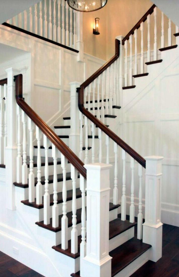 Barandas para escaleras de madera barandas para escaleras for Barandas de madera para escaleras interiores