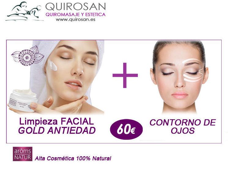 """OFERTA SEPTIEMBRE: """"Limpieza facial GOLD ANTIEDAD"""" + """" Contorno de Ojos y Bolsas"""""""