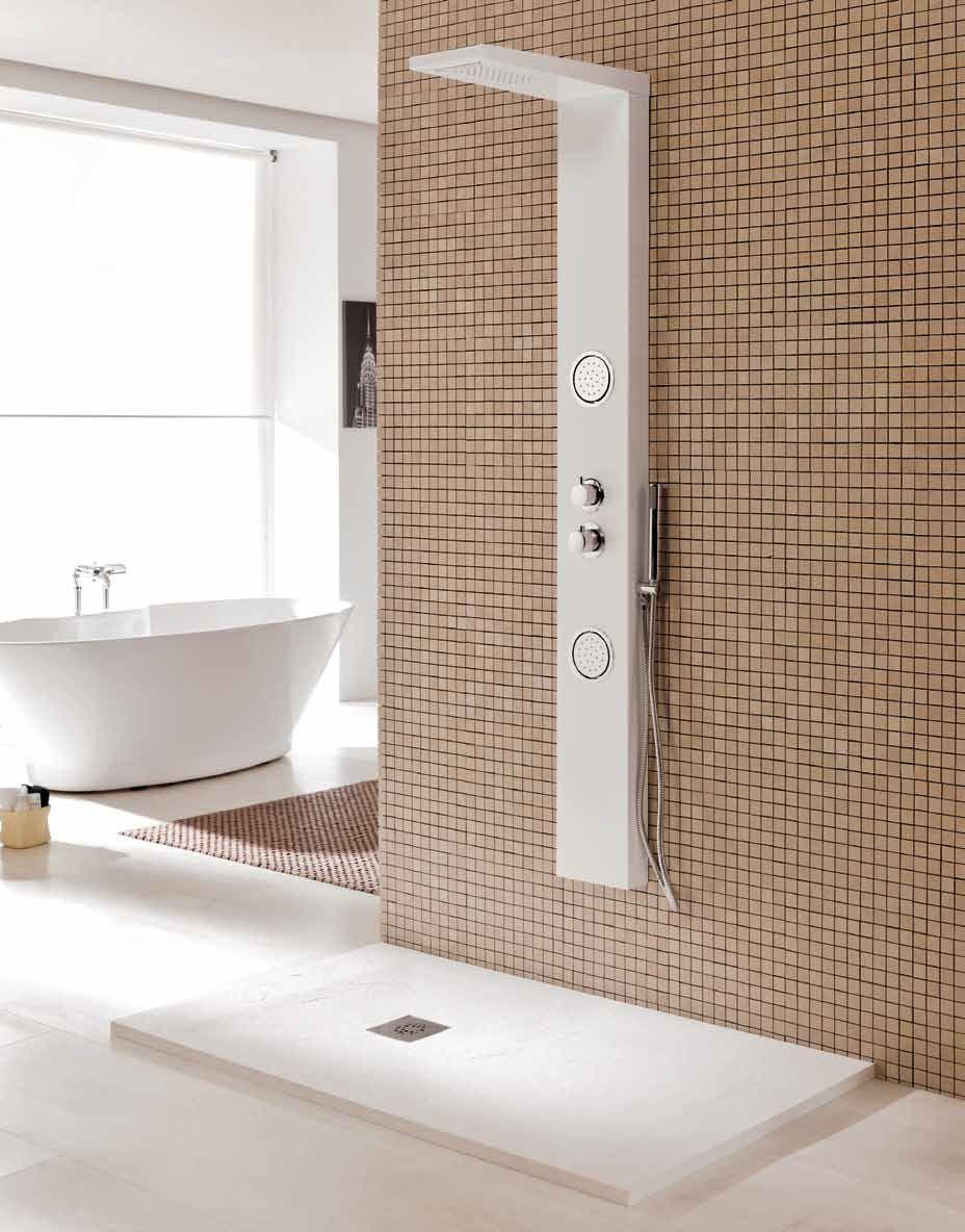 Oferta plato de ducha columna productos de gres de l 39 anoia for Articulos de ducha