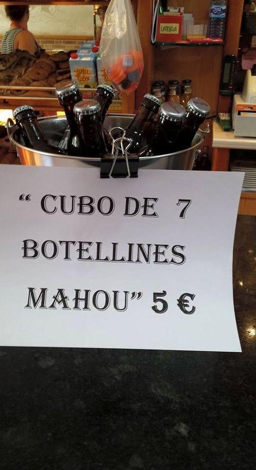 Cubo Ipanema de botellín 5 €