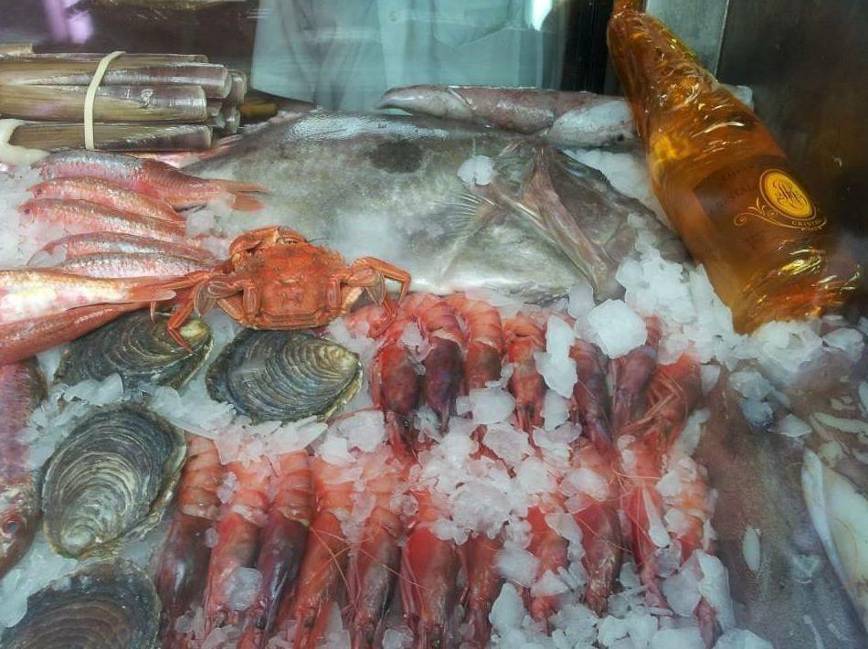 Pescados y mariscos del día