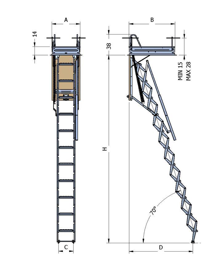 Escaleras para techos en vizcaya cat logo de escaleras - Escaleras de techo ...