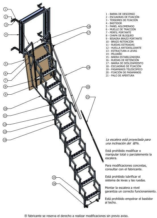 Escaleras plegables de pared en vizcaya cat logo de - Escaleras metalicas plegables ...