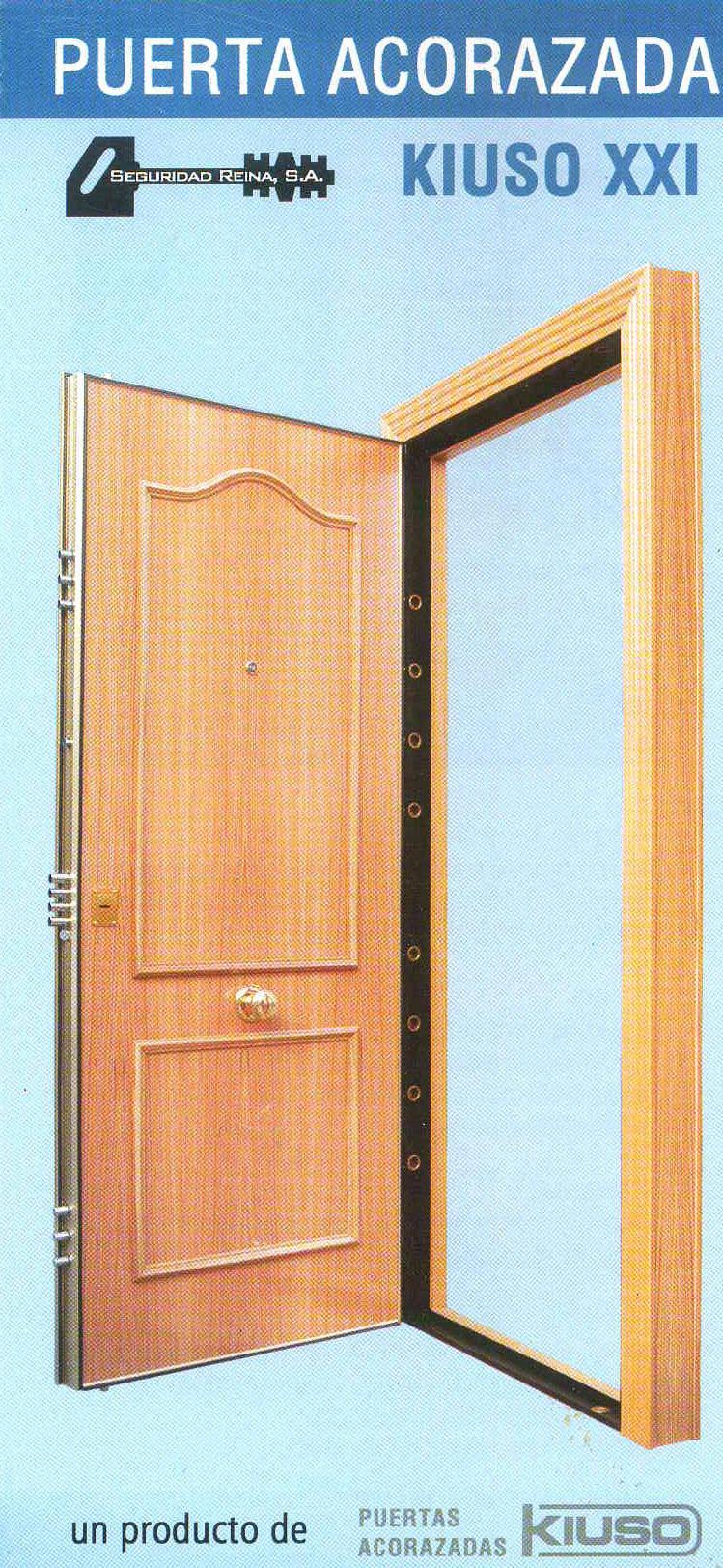 Puerta acorazada kiuso xxi sapely 20s sapely 20s instalada armarios puertas y tarimas de gercar - Puertas kiuso ...