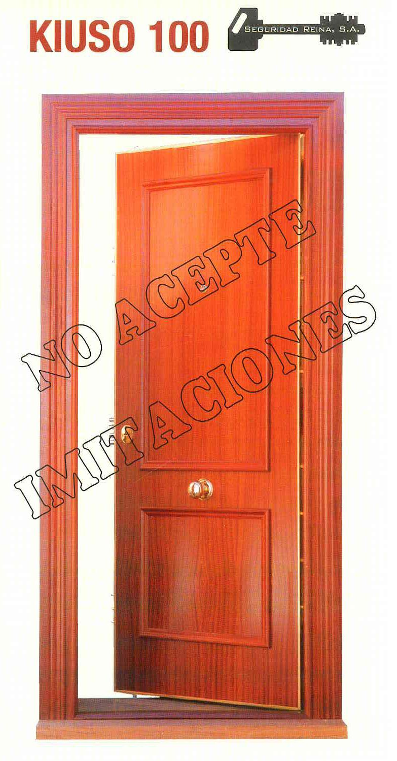 Puerta acorazada kiuso k100 lisa sapely sapely instalada armarios puertas y tarimas de gercar - Puertas kiuso ...