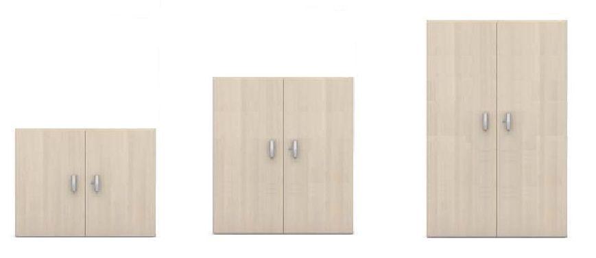 Armario Abierto Madera ~ Armario de madera bajo abierto con un estante serie