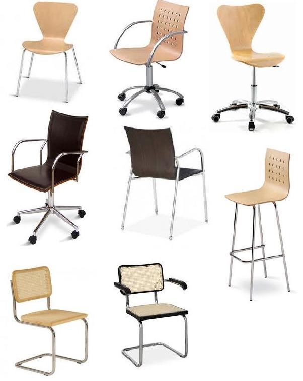 sillas de oficina en madera con diseño clásico y moderno