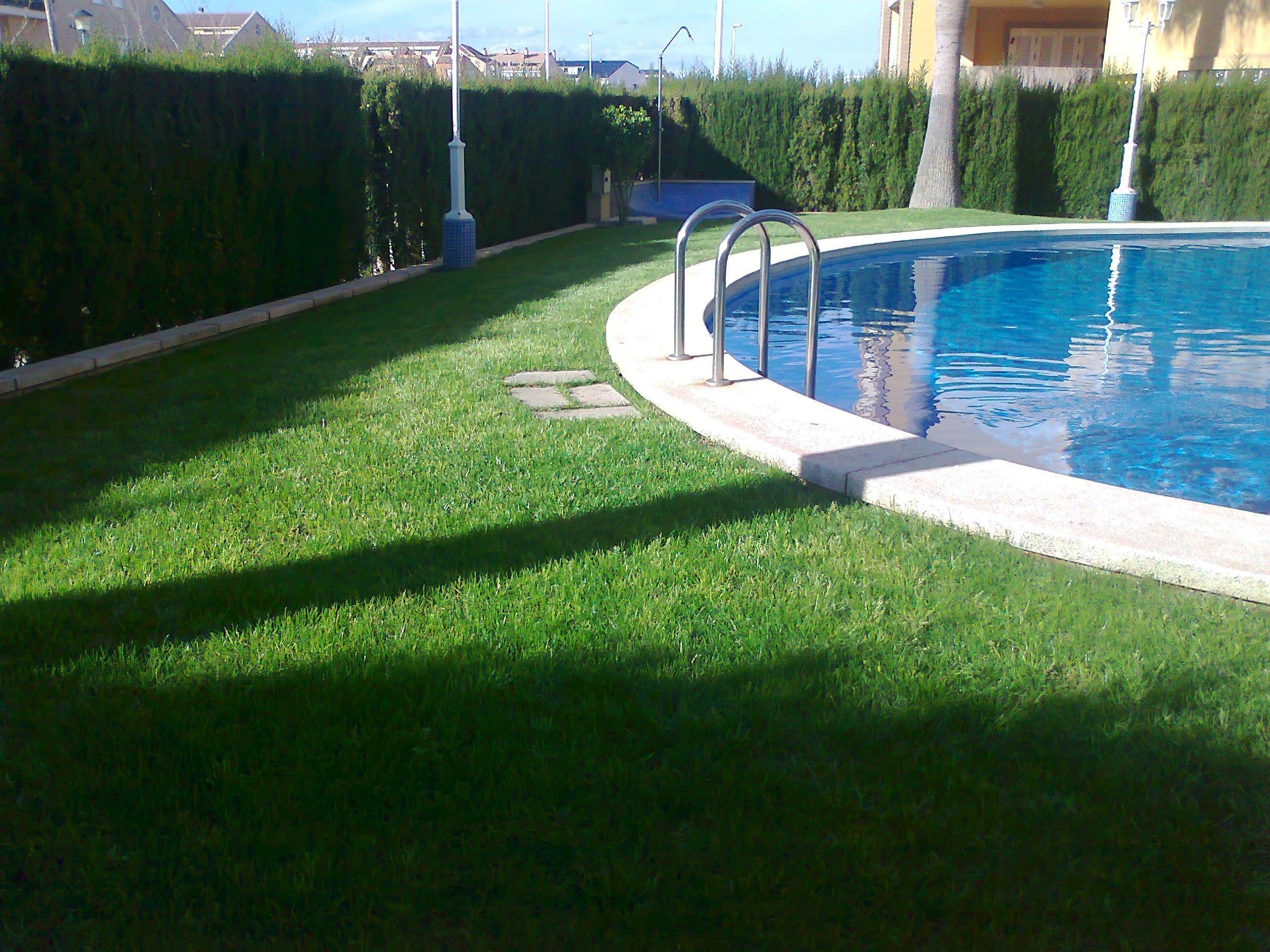Piscinas y jardines affordable jardn clsicojardn con bajo - Fotos de piscinas y jardines ...