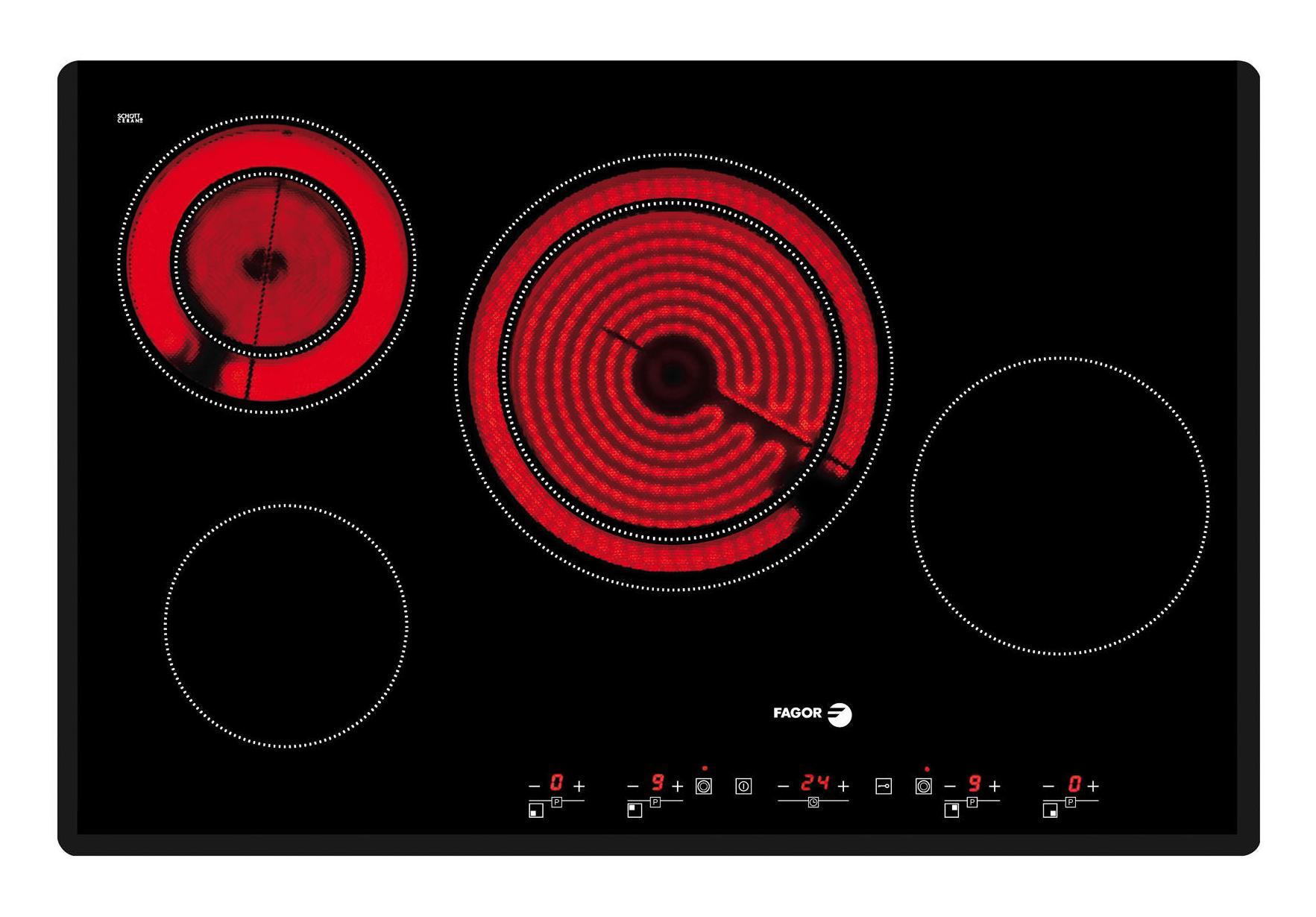 Casas cocinas mueble vitroceramica induccion baratas for Placas de gas baratas