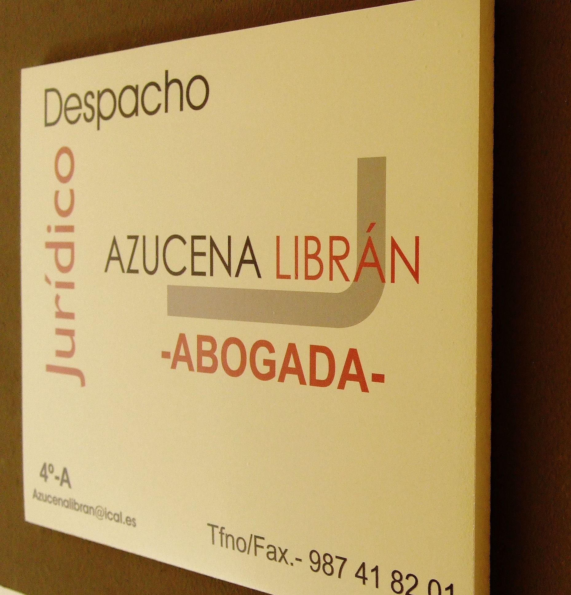 Foto 1 de Abogados en Ponferrada | Despacho Jurídico Azucena Librán
