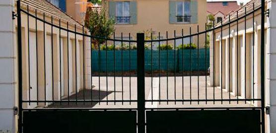 Puertas de hierro para jadín