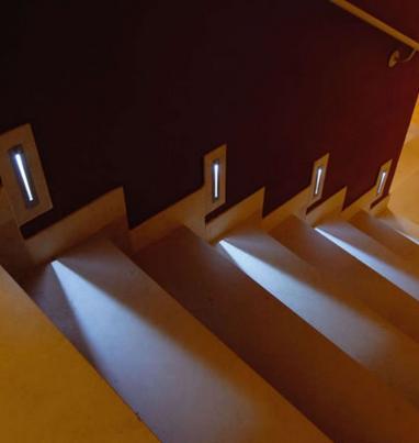 9 8led empotrado escalera productos de lamparas el b ho for Apliques de led para escaleras