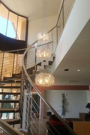 Lamparas subida de escalera productos de el b ho - Iluminacion de escaleras ...