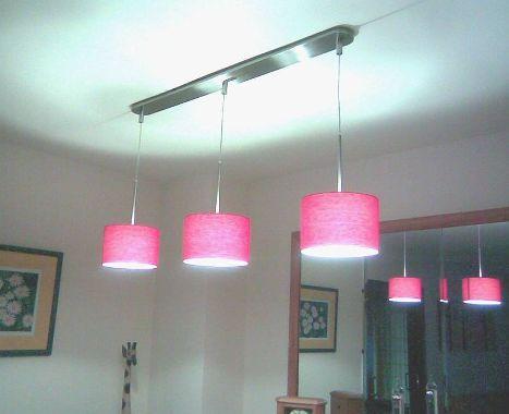 Lampara con pantallas productos de el b ho iluminaci n - Pantallas lamparas barcelona ...