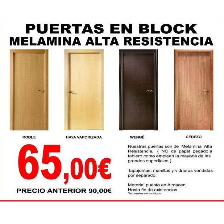 para nuestra familia puertas en block baratas